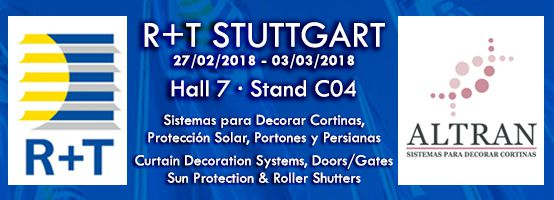 We repeat our assistance in R+T Stuttgart 2018